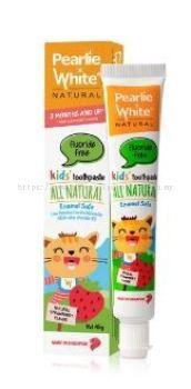 ALL NATURAL ENAMEL SAFE KIDS TOOTHPASTE (FLUORIDE FREE), PEARLIE WHITE