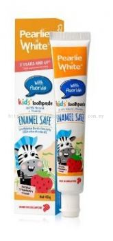 ENAMEL SAFE KIDS TOOTHPASTE (FLUORIDE 1000ppm), PEARLIE WHITE