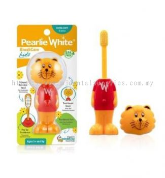 BRUSHCARE KIDS POP-UP EXTRA SOFT TOOTHBRUSH, PEARLIE WHITE