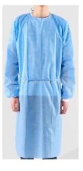 NON-WOVEN ISOLATION GOWN 45GSM WITH KNITTED CUFF, MJ