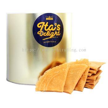 Ita Delight Kuih Kapit Folded Love Letter Premium Gold Tin Extra Santan Coconut Extra Egg