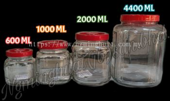 Round Square Glass Bottle