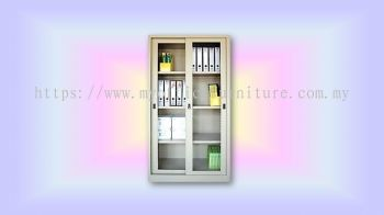 MY-S119 FULL HEIGHT CUPBOARD WITH GLASS SLIDE DOOR (RM 604.00/UNIT)