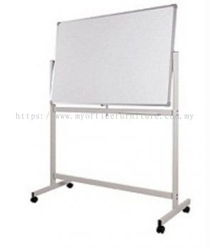DOUBLE SIDED MAGNETIC WHITEBOARD WITH MOBILE STAND (RM 264.00/UNIT)