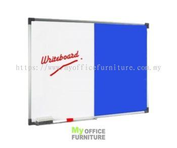 DUAL BOARD W/O STAND ~MAGNETIC WHITEBOARD AND FOAM BOARD (RM 48.00/UNIT)