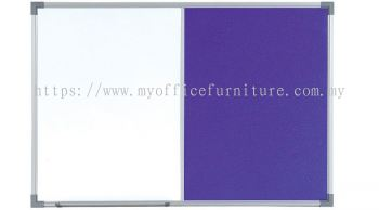 DUAL BOARD W/O STAND ~MAGNETIC WHITEBOARD AND VELVET BOARD (RM 57.00/UNIT)