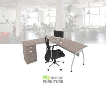 MY-ALD L-SHAPE TABLE WITH A-LEG & FIXED PEDESTAL 4D (RM 976.00/UNIT)