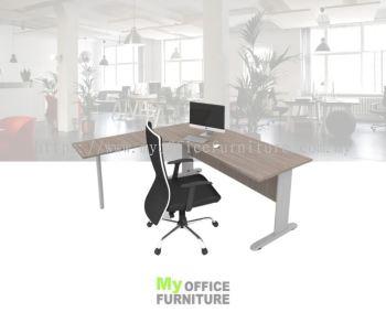 MY-MTR L-SHAPE TABLE WITH J LEG & ROUND METAL LEG (RM 640.00/UNIT)
