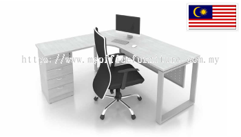 MY-SLD L-SHAPE TABLE WITH SQUARE LEG & FIXED PEDESTAL 4D (RM 967.00/UNIT)