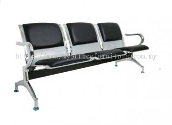 MY-003-C LINK CHAIR WITH CUSHION (PVC)~3 SEATER (RM 884.00/UNIT)