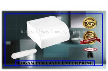 PLASTIC TOILET PAPER HOLDER - WHITE