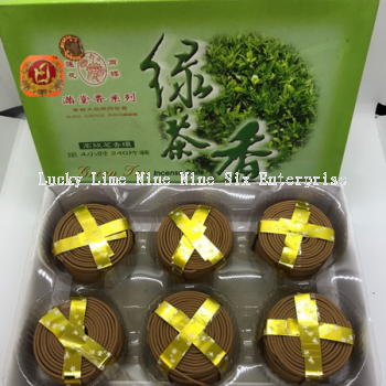 4Сʱ�̲�����/4hours Green Tea Incense Coil