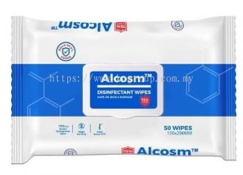 ALCOSM DISINFECTANT WIPES 50S