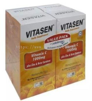 VITASEN Vitamin C 1000mg+Zinc & Beta Carotene 4x(8g x10��S)