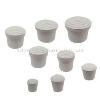 Round External Caps - White