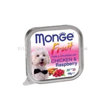 MONGE DOG 100G -CHICKEN & R'BERRY