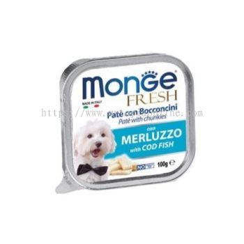 MONGE DOG 100G -COD FISH
