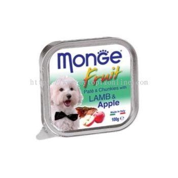 MONGE DOG 100G -LAMB & APPLE