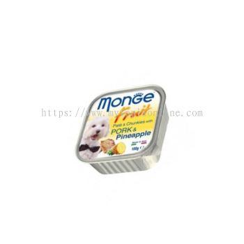 MONGE DOG 100G -PORK & PINEAPPLE