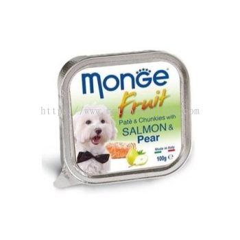 MONGE DOG 100G -SALMON & PEAR