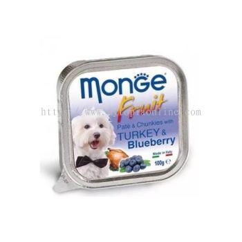 MONGE DOG 100G -TURKEY & BLUEBERRY