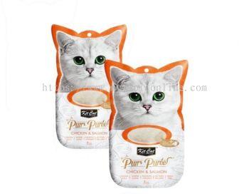 KIT CAT PURR PUREE 15GX4 -CHICKEN & SALMON