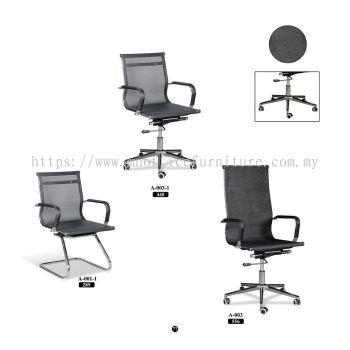 Meeting Chair - Black Mesh Series