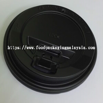 Hot Cup Lid (Reclosable Lid) Black