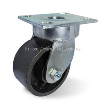IMPAK KINGPINLESS SWIVEL CASTOR C/W SEMI STEEL WHEEL