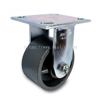 IMPAK KINGPINLESS RIGID CASTOR C/W SEMI STEEL WHEEL
