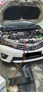 changing toyota altis cooling coil