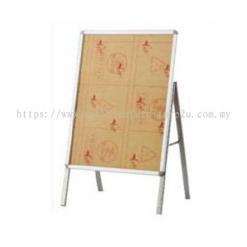 A1 Stainless Steel Signboard Stand Single Face