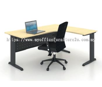 JL1215 J Leg with L Shape Table 1200/600L x 1500/600W x 750H mm (Maple)