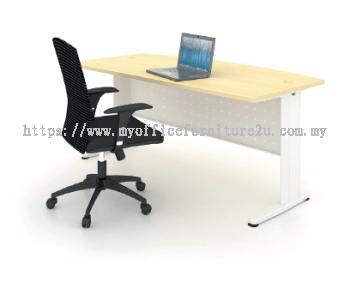 JD1575 J Leg with D Shape Table 1500L x 750/600D x 750H mm (Maple)