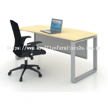 SD1875 Square Leg with D Shape Table 1800W x 750/600D x 750H mm (Maple)