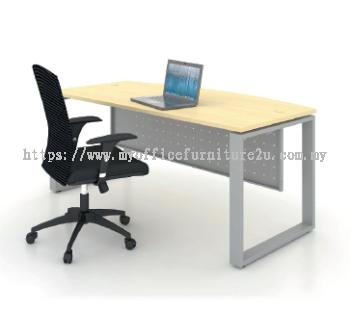 SD1575 Square Leg with D Shape Table 1500W x 750/600D x 750H mm (Maple)