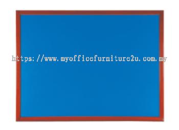 Wooden Frame Foam Notice Board (600H x 900L mm)