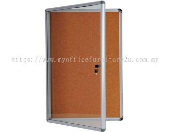 Display Case Notice Cork Board (450H x 600L mm)