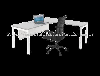 UL1515 U Leg with L Shape Table 1500/600L x 1500/600W x 750H mm (Light Grey)