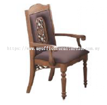 GOLD21-324-A Dining Arm Chair Fabric Brown