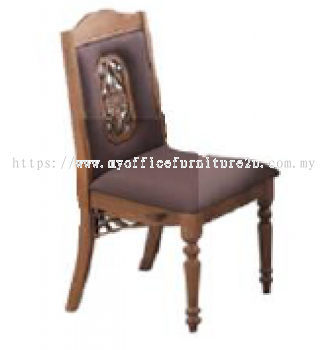 GOLD21-324-S Dining Chair Fabric Brown