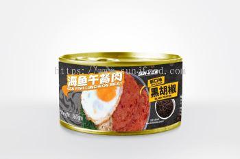 SUN-J BLACK PEPPER SEAFISH LUNCHEON MEAT ����ں������������
