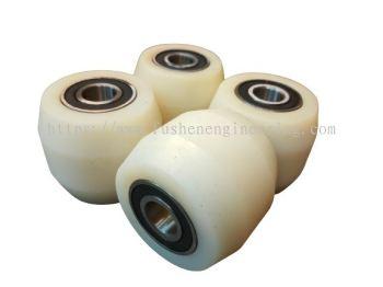 80mm x 70mm Nylon Wheel c/w 6204 bearing (For FUSHEN Brand only))