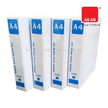 AKAR 2D PVC Ring File 40mm
