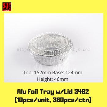 Aluminium Foil Tray w/Lid 3482