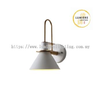 Modern Minimalist Nordic Cone Design Wall Light (White)