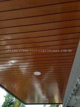 Metal ceiling stripe.
