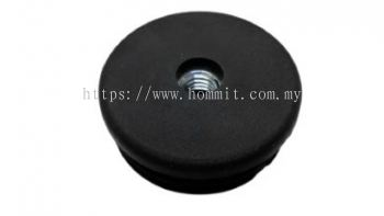 """Round Stopper with 3/8"""" Nut Insert (Black)"""