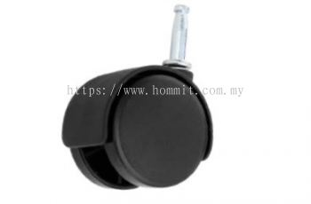 Twin Wheel Castor with Socket