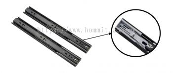 1.0*1.0*1.2 / 45mm - Full Extension Ball Bearing Drawer Slide with Soft Closing (Black)